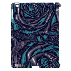 Gorgeous Roses, Aqua Apple iPad 3/4 Hardshell Case (Compatible with Smart Cover)