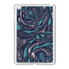 Gorgeous Roses, Aqua Apple iPad Mini Case (White)