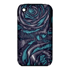 Gorgeous Roses, Aqua Apple Iphone 3g/3gs Hardshell Case (pc+silicone)