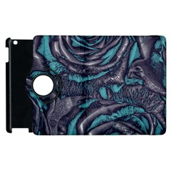 Gorgeous Roses, Aqua Apple iPad 3/4 Flip 360 Case