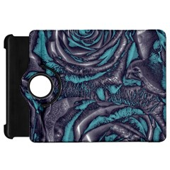 Gorgeous Roses, Aqua Kindle Fire HD Flip 360 Case