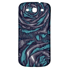Gorgeous Roses, Aqua Samsung Galaxy S3 S III Classic Hardshell Back Case