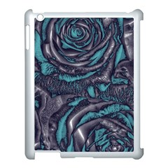 Gorgeous Roses, Aqua Apple iPad 3/4 Case (White)