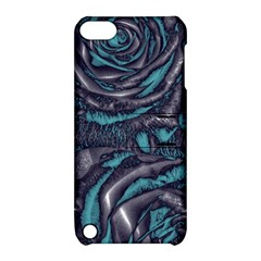 Gorgeous Roses, Aqua Apple iPod Touch 5 Hardshell Case with Stand