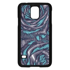Gorgeous Roses, Aqua Samsung Galaxy S5 Case (Black)