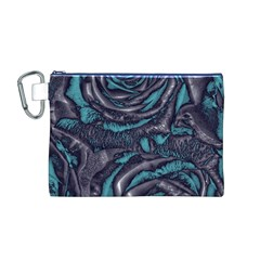 Gorgeous Roses, Aqua Canvas Cosmetic Bag (M)