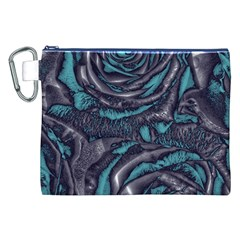 Gorgeous Roses, Aqua Canvas Cosmetic Bag (XXL)