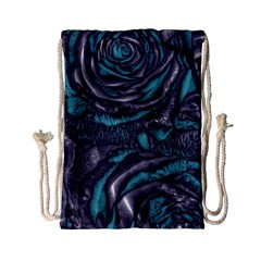 Gorgeous Roses, Aqua Drawstring Bag (small)