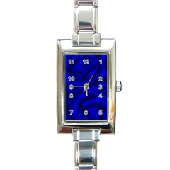 Gorgeous Roses,deep Blue Rectangle Italian Charm Watches