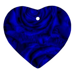 Gorgeous Roses,deep Blue Ornament (Heart)