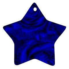 Gorgeous Roses,deep Blue Ornament (star)