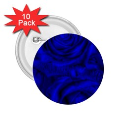 Gorgeous Roses,deep Blue 2.25  Buttons (10 pack)