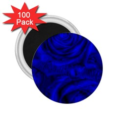 Gorgeous Roses,deep Blue 2 25  Magnets (100 Pack)