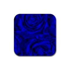 Gorgeous Roses,deep Blue Rubber Coaster (square)