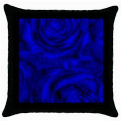 Gorgeous Roses,deep Blue Throw Pillow Cases (black)