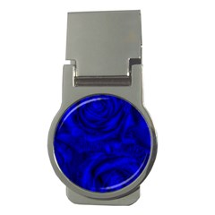 Gorgeous Roses,deep Blue Money Clips (round)