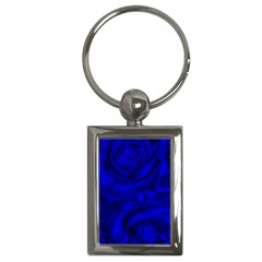 Gorgeous Roses,deep Blue Key Chains (rectangle)