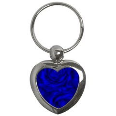 Gorgeous Roses,deep Blue Key Chains (heart)