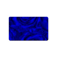 Gorgeous Roses,deep Blue Magnet (name Card)
