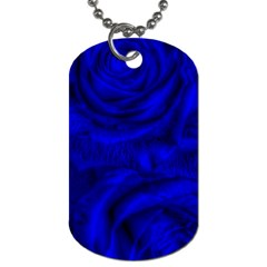 Gorgeous Roses,deep Blue Dog Tag (one Side)