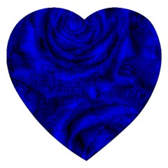 Gorgeous Roses,deep Blue Jigsaw Puzzle (heart)