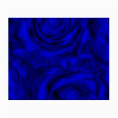 Gorgeous Roses,deep Blue Small Glasses Cloth