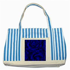 Gorgeous Roses,deep Blue Striped Blue Tote Bag
