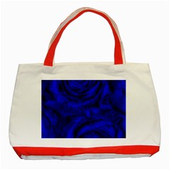 Gorgeous Roses,deep Blue Classic Tote Bag (red)