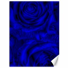 Gorgeous Roses,deep Blue Canvas 36  X 48