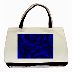 Gorgeous Roses,deep Blue Basic Tote Bag (two Sides)