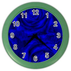 Gorgeous Roses,deep Blue Color Wall Clocks