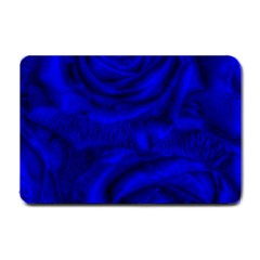 Gorgeous Roses,deep Blue Small Doormat