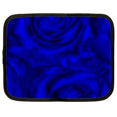 Gorgeous Roses,deep Blue Netbook Case (large)