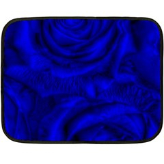 Gorgeous Roses,deep Blue Fleece Blanket (Mini)