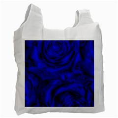 Gorgeous Roses,deep Blue Recycle Bag (one Side)