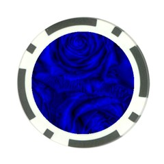 Gorgeous Roses,deep Blue Poker Chip Card Guards (10 Pack)