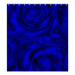 Gorgeous Roses,deep Blue Shower Curtain 66  x 72  (Large)
