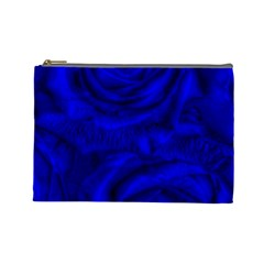 Gorgeous Roses,deep Blue Cosmetic Bag (large)