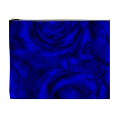 Gorgeous Roses,deep Blue Cosmetic Bag (xl)