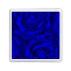 Gorgeous Roses,deep Blue Memory Card Reader (Square)