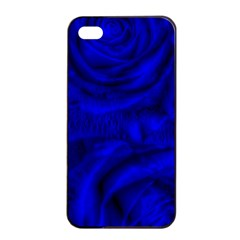 Gorgeous Roses,deep Blue Apple iPhone 4/4s Seamless Case (Black)