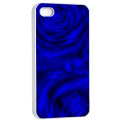Gorgeous Roses,deep Blue Apple iPhone 4/4s Seamless Case (White)