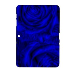 Gorgeous Roses,deep Blue Samsung Galaxy Tab 2 (10 1 ) P5100 Hardshell Case