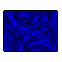 Gorgeous Roses,deep Blue Double Sided Fleece Blanket (small)