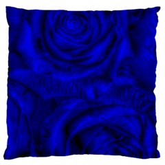 Gorgeous Roses,deep Blue Standard Flano Cushion Cases (One Side)