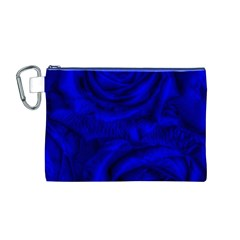 Gorgeous Roses,deep Blue Canvas Cosmetic Bag (m)