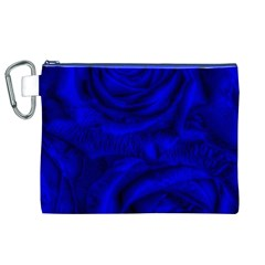 Gorgeous Roses,deep Blue Canvas Cosmetic Bag (XL)