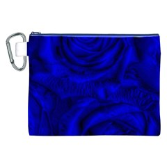Gorgeous Roses,deep Blue Canvas Cosmetic Bag (XXL)