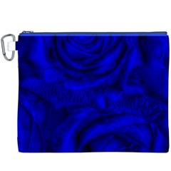 Gorgeous Roses,deep Blue Canvas Cosmetic Bag (XXXL)