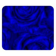 Gorgeous Roses,deep Blue Double Sided Flano Blanket (Small)